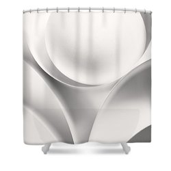 Ball And Curves 01 Shower Curtain by Nailia Schwarz