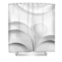 Ball And Curves 02 Shower Curtain by Nailia Schwarz