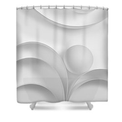 Ball And Curves 03 Shower Curtain by Nailia Schwarz