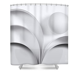 Ball And Curves 05 Shower Curtain by Nailia Schwarz