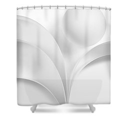 Ball And Curves 06 Shower Curtain by Nailia Schwarz