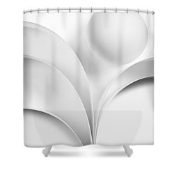 Ball And Curves 07 Shower Curtain by Nailia Schwarz