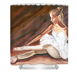 Shower Curtain featuring the painting Ballet Dancer by Clara Sue Beym