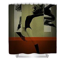 Ballet Dancing Shower Curtain by Naxart Studio