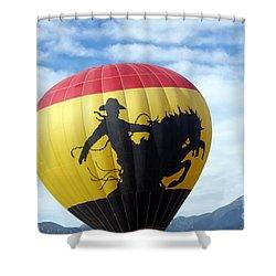 Shower Curtain featuring the photograph Balloon 24 by Deniece Platt