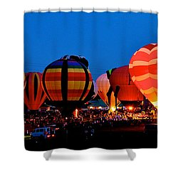Balloon Glow Shower Curtain by Mark Dodd