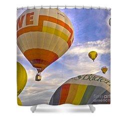 Balloon Ride Shower Curtain by Heiko Koehrer-Wagner