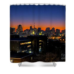 Shower Curtain featuring the photograph Baltimore At Sunset by Mark Dodd