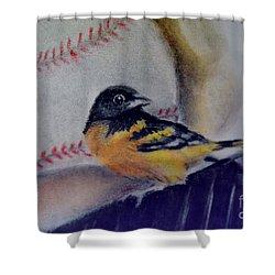 Baltimore Orioles Shower Curtain by AE Hansen