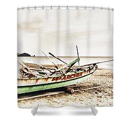 Banca Boat Shower Curtain by Skip Nall