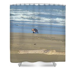 Bandon Oregon Beach Comber Prints Ocean Coastal Shower Curtain by Baslee Troutman