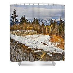 Banff Scene Shower Curtain by Johanna Bruwer