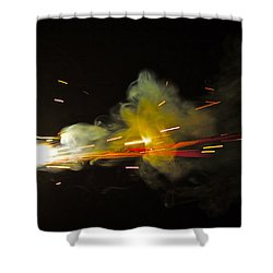 Bang Shower Curtain by Xn Tyler