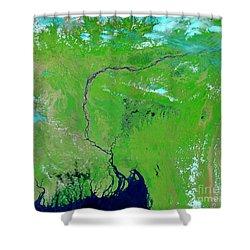 Bangladesh Shower Curtain by Nasa