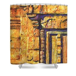 Banteay Srei Doorway Shower Curtain by Ryan Fox