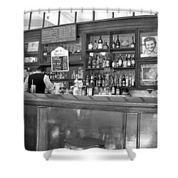 Shower Curtain featuring the photograph Bar In Old Havana by Lynn Bolt