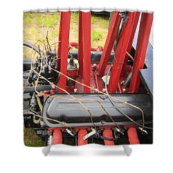 Shower Curtain featuring the photograph Barbwire Engine by Kym Backland