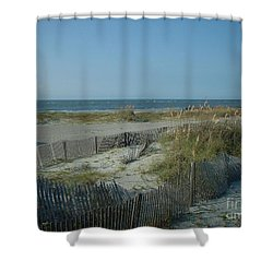 Barely Fenced Shower Curtain by Mark Robbins