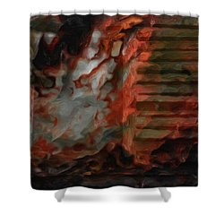 Barn Burning Shower Curtain by Jack Zulli