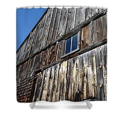 Barn End Looking Up Shower Curtain
