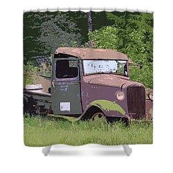 Barn Fresh Pickup Shower Curtain by Steve McKinzie