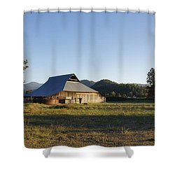 Barn In The Applegate Shower Curtain by Mick Anderson