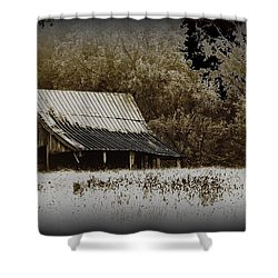 Barn In The Field Shower Curtain by Travis Truelove