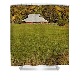 Barn Near Murphy Shower Curtain by Mick Anderson