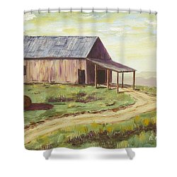 Barn On The Ridge Shower Curtain