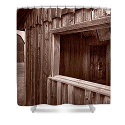 Barns Grand Tetons Shower Curtain by Steve Gadomski