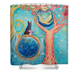 Baron's Painting Shower Curtain by Ashleigh Dyan Bayer