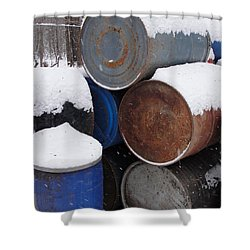 Shower Curtain featuring the photograph Barrel Of Food by Tiffany Erdman