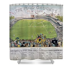 Baseball, 1887 Shower Curtain by Granger