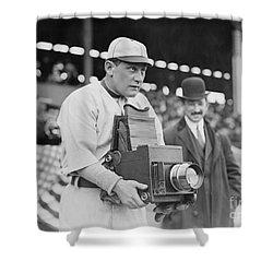 Baseball: Camera, C1911 Shower Curtain by Granger
