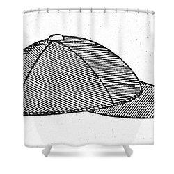 Baseball Cap, C1900 Shower Curtain by Granger