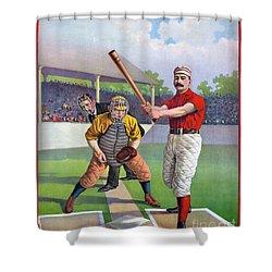 Baseball Game, C1895 Shower Curtain by Granger