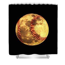 Baseball Moon Shower Curtain by Bill Cannon