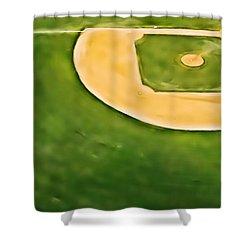 Baseball Shower Curtain by Patrick M Lynch