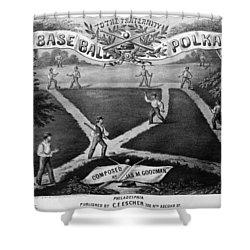 Baseball Polka, 1867 Shower Curtain by Granger