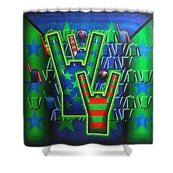Shower Curtain featuring the painting Basilea Star  by Mark Howard Jones