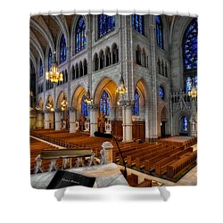 Basilica Of The Sacred Heart Shower Curtain by Susan Candelario