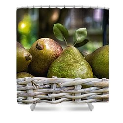 Basket Of Pears Shower Curtain