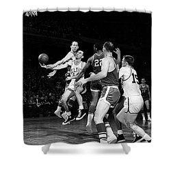 Basketball Game, C1960 Shower Curtain by Granger