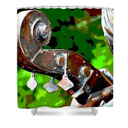 Bass Fiddle Shower Curtain by Charlie and Norma Brock