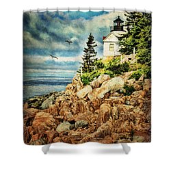 Bass Harbor - Acadia Np Shower Curtain by Lianne Schneider
