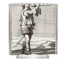 Bass Trombone, 1723 Shower Curtain by Granger