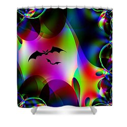 Bat Cave Shower Curtain by Maria Urso