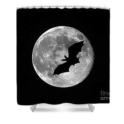 Bat Moon Shower Curtain by Al Powell Photography USA