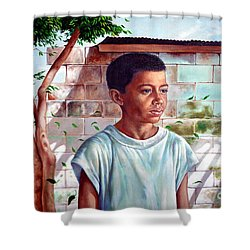 Bata The Filipino Child Shower Curtain