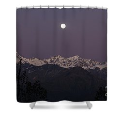 Shower Curtain featuring the photograph Bathed In Moonlight by Fotosas Photography